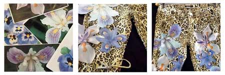 luipaard bloemenbroek stap voor stap