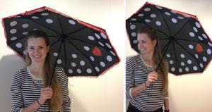 paraplu vasthouden