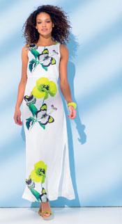 KM7 sneak preview maxi dress