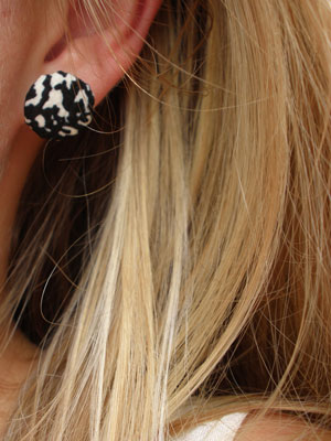 DIY: Stofknoop oorbellen