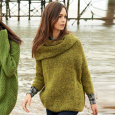 Groene oversized trui breien