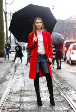 Trend: De rode jas