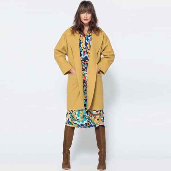 7d815b62dcbd16 Tricot jurk met wikkeleffect (Post patroon)-789243 ...