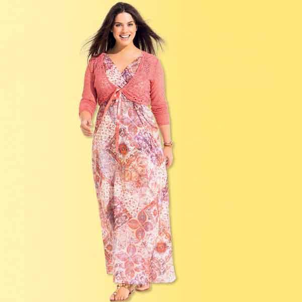 Lange jurk maat 56