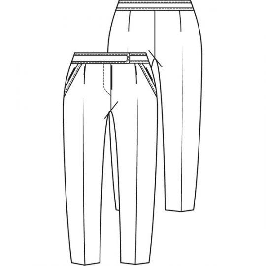 Bandplooibroek - korte lengtemaat (Post patroon)-787144