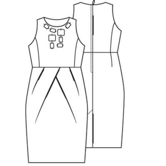 Jurk in stijl van Máxima (Post patroon)-791026
