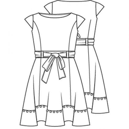 Zwierige jurk (Post patroon)-788929