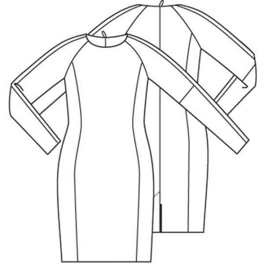 Gestroomlijnde jurk (Post patroon)-787495