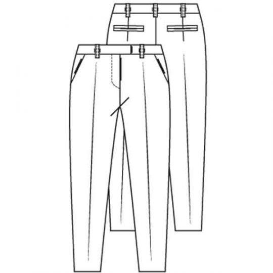 Mannenpak broek lengtemaat 172 cm (Post patroon)-789811