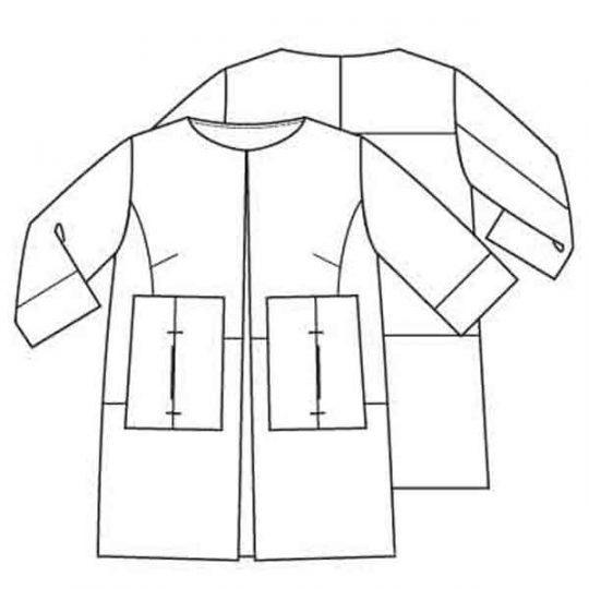 Recht blazerjasje (Post-patroon)-791733