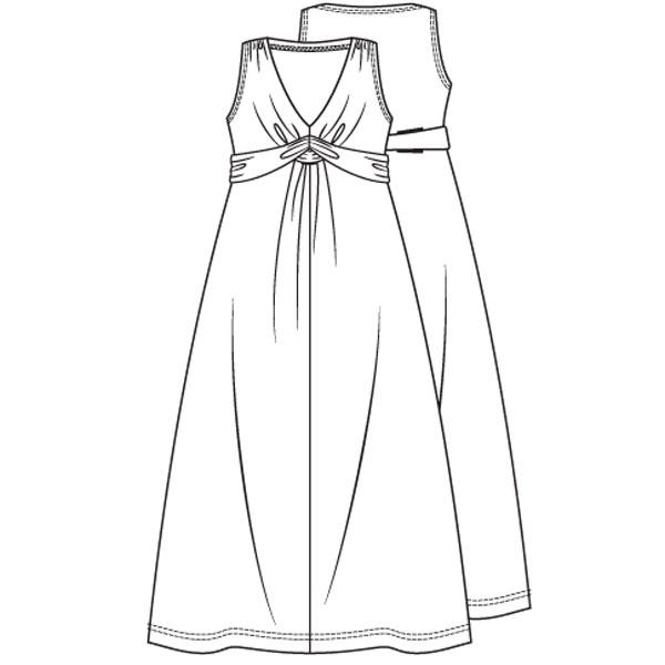 Gratis naaipatroon lange jurk