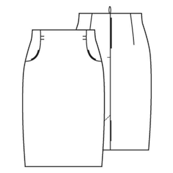 patroon rechte rok