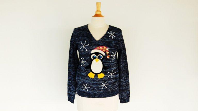 Foute Kersttrui Pinguin.Diy Foute Kersttrui