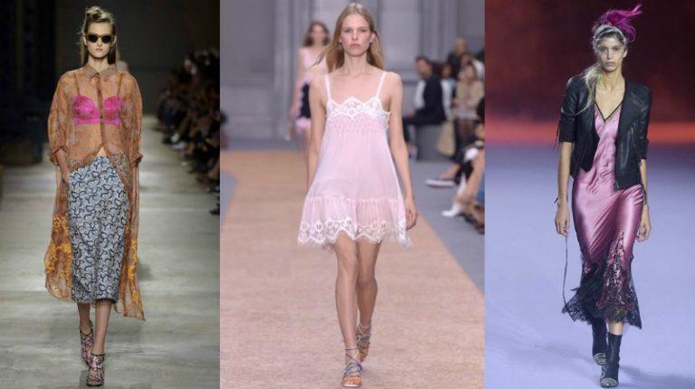Modetrend: lingerie look