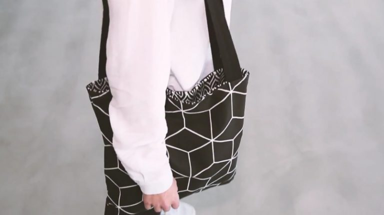DIY reversible tote bag