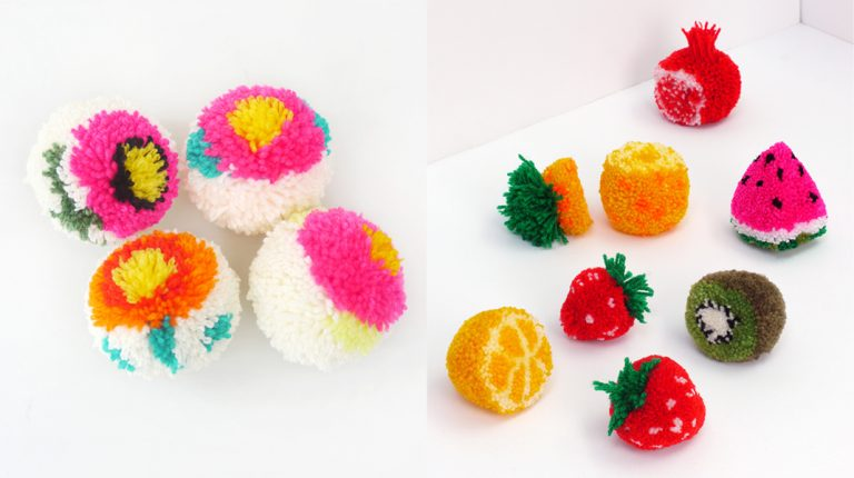 DIY met pompoms