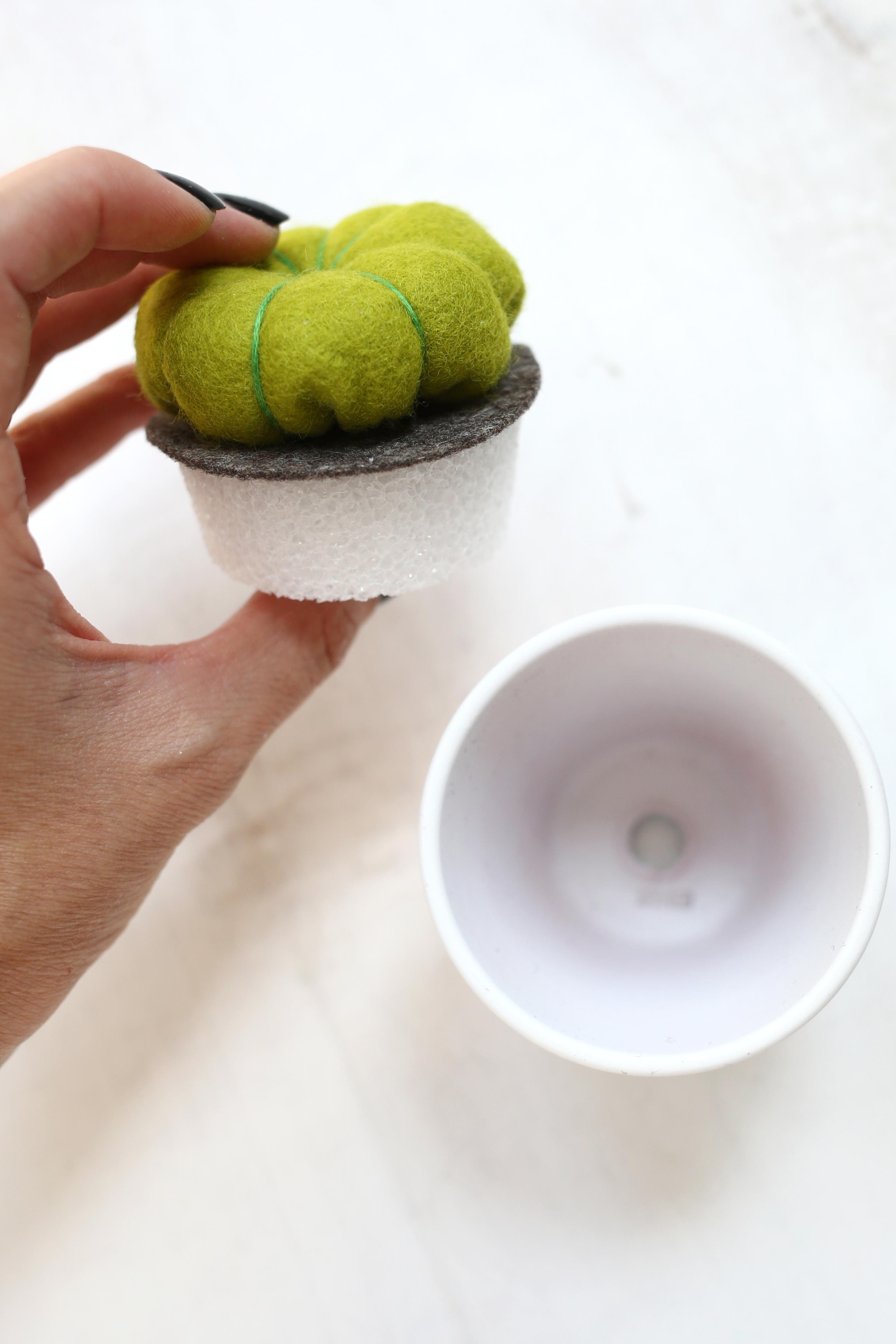 DIY speldenkussen cactus 9