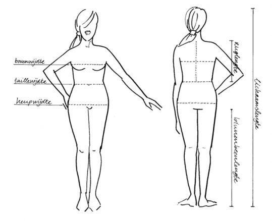 7849ef44cd8 Heb je een andere lichaamslengte dan aangegeven, dan kun je bij een klein  verschil het patroon aanpassen door het korter of langer te maken.