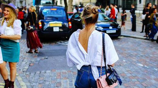 Gespot: omgekeerde blouse