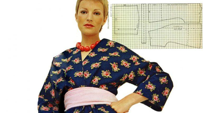 Vintage patroon: kimonojurk en jas(je)