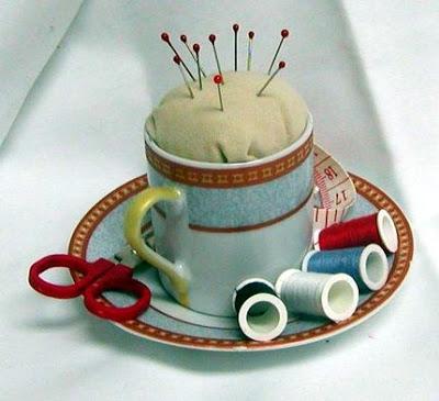 PaperArtPlus teacup pincushion