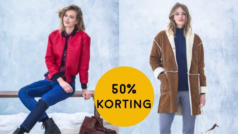 50% korting op winterjassen!