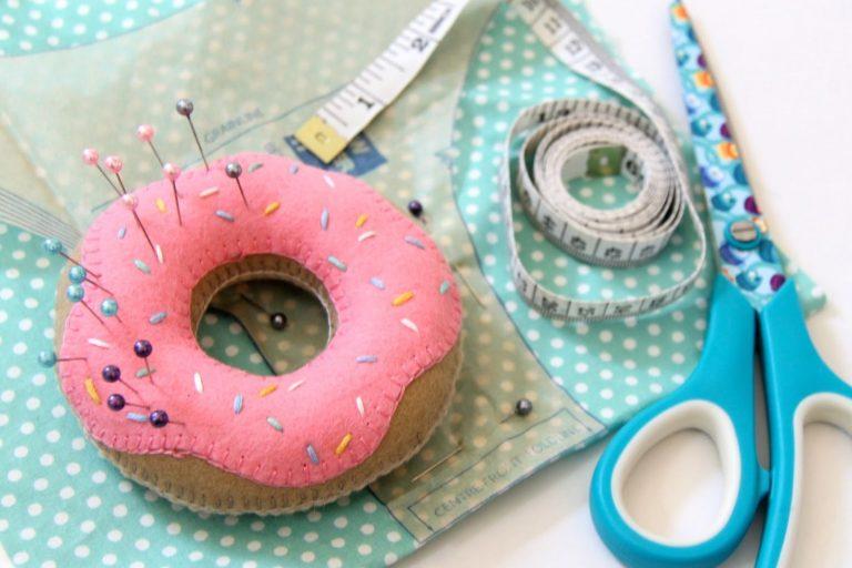 DIY Donut speldenkussen