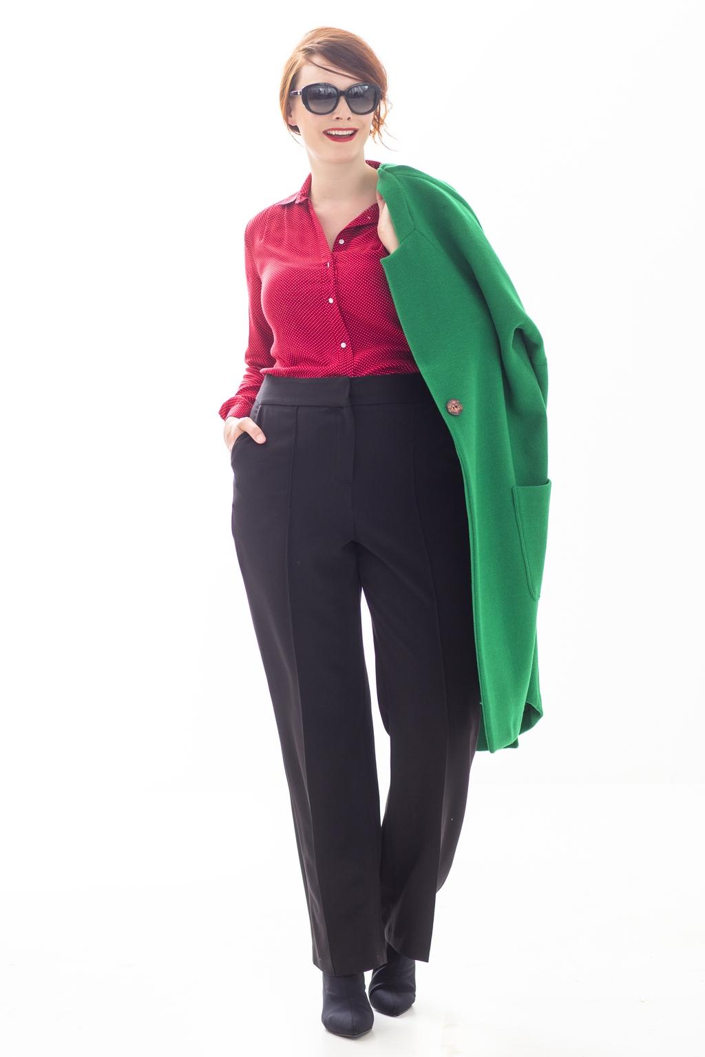 blouse + broek + jas