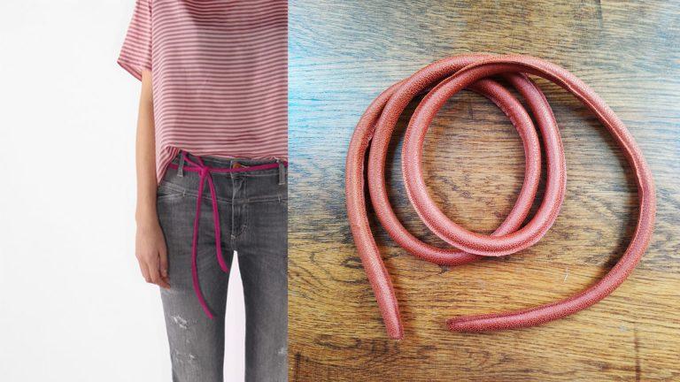 DIY | Leren knoopceintuur