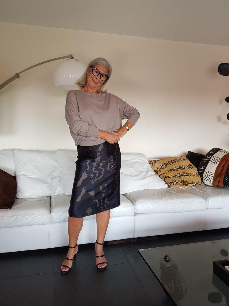 Peggy geïnterviewd, over de kokerrok