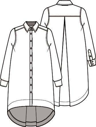 Knipmode 4 overhemdblouse jurk 1