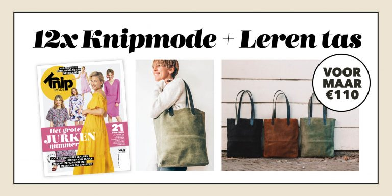 12 x Knipmode + Leren tas