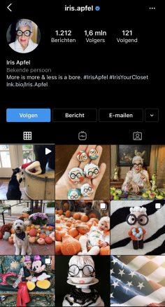 @iris.apfel instagram profile link